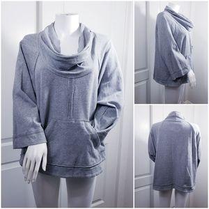 sanctuary S gray oversized cowl sweatshirt